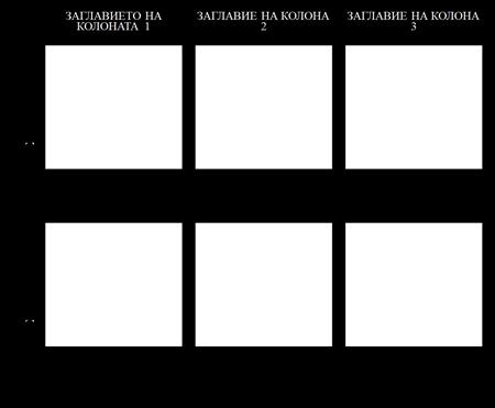 Шаблон за Диаграма 2x3