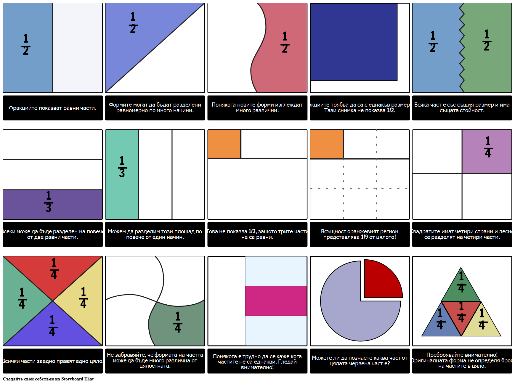 Fraction Patterns Графичен Организатор за Математика