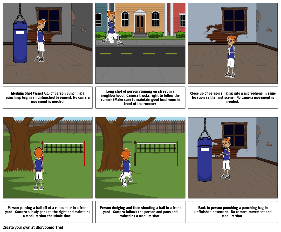 TV 1 Red Music Video Storyboard
