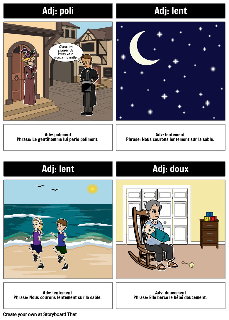 Changing French Adjectives into Adverbs