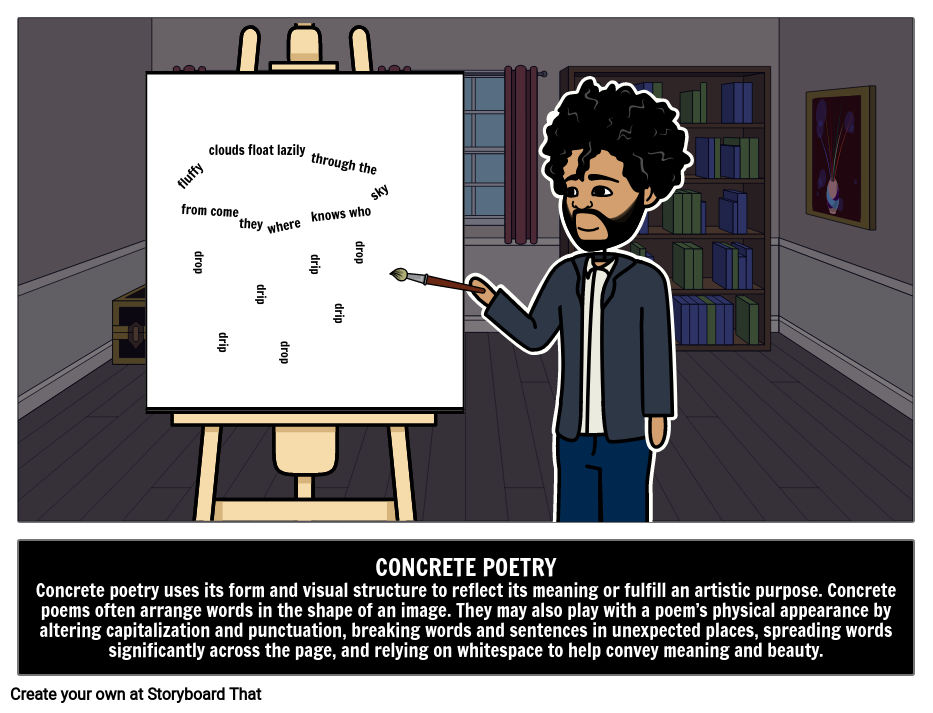 Types of Poems |Concrete Poetry | Concrete or Shape Poems
