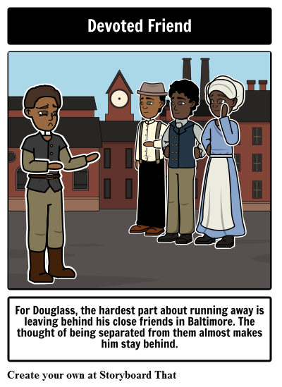 Narrative of the Life of Frederick Douglass Character Trait Square