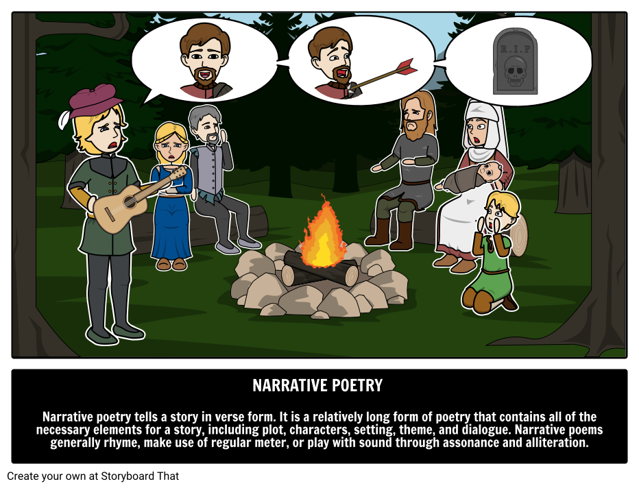 how to write a narrative poem