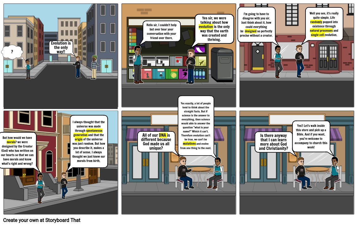 Bible Storyboard E vs C