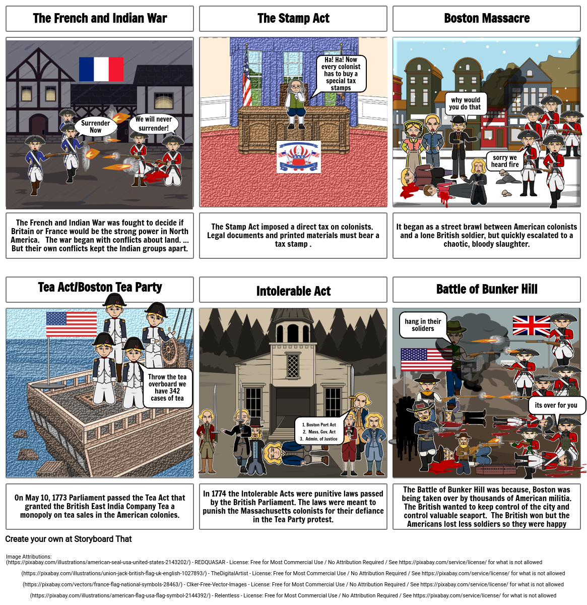 Road to Revolution Storyboard Project