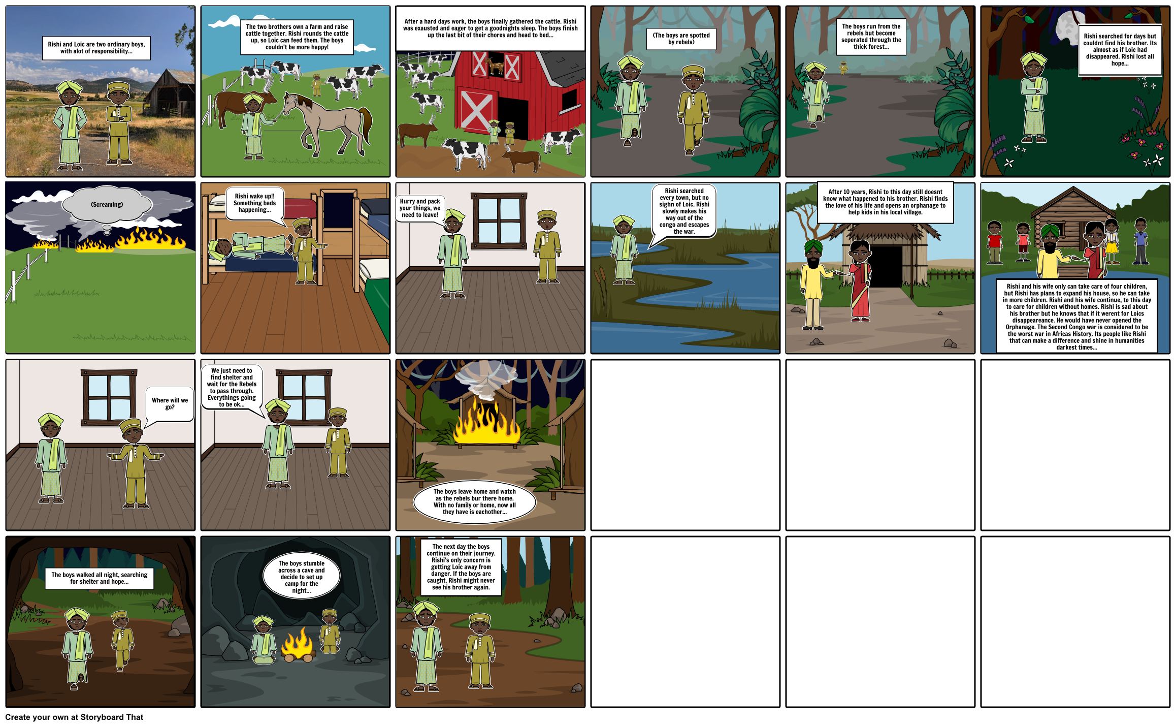The Second Congo War Storyboard by bsullivan22