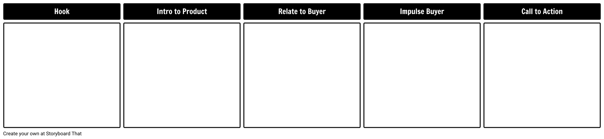 Sales Pitch Template Storyboard By Business Template Maker