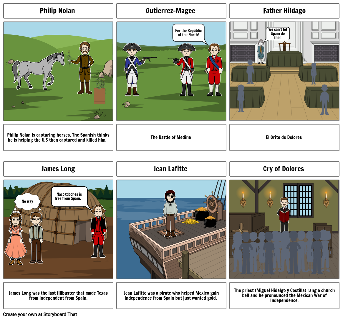 Mexican National Era Story Board