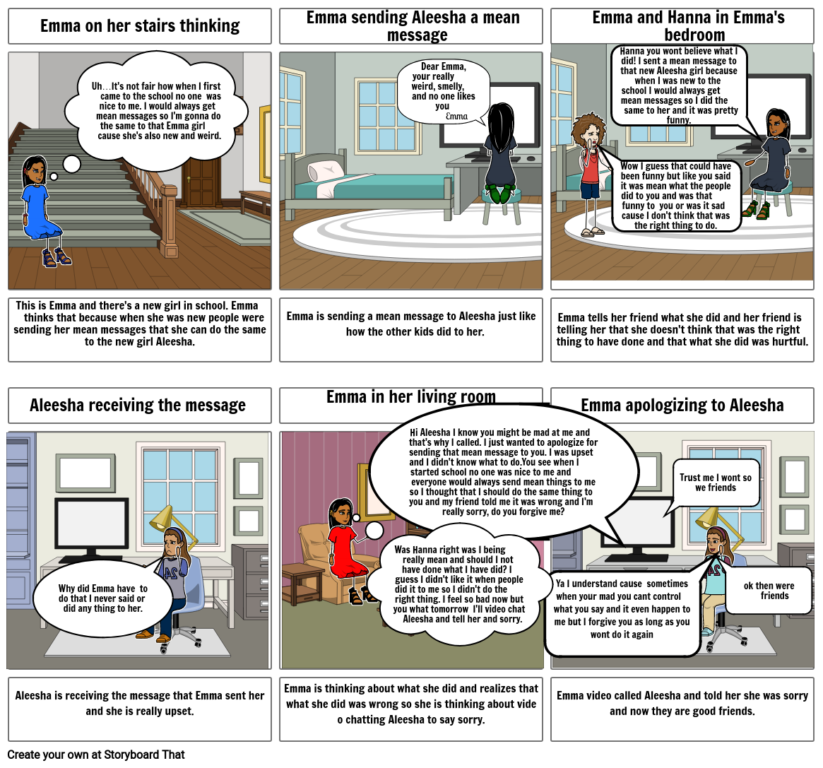 Empathy storyboard