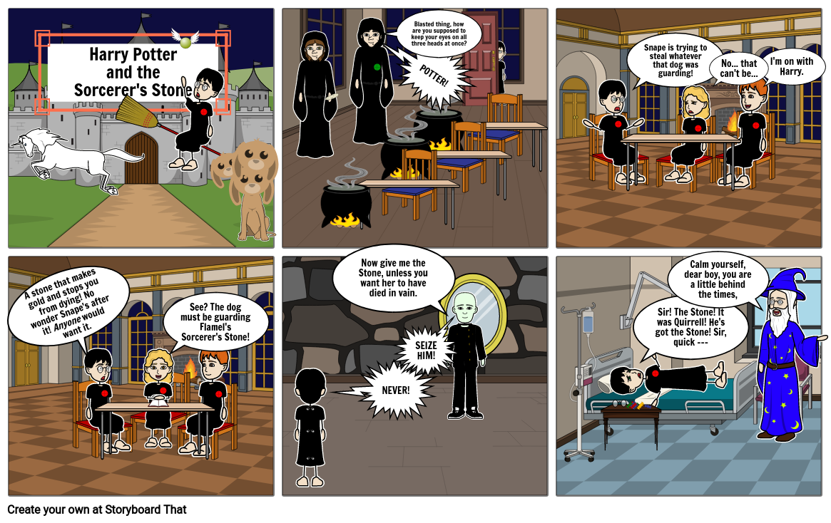 Miss Spain's Guided Reading Assignment: I Can Comic Strip: Harry Potter and