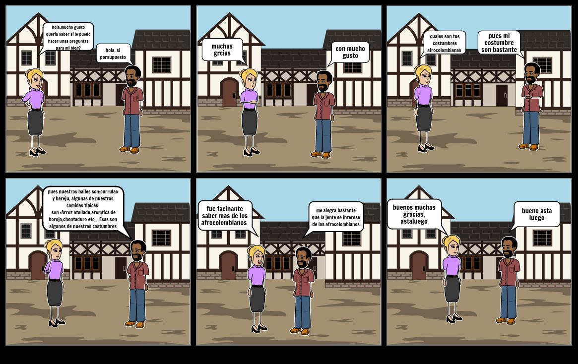 historieta de afrocolobianos