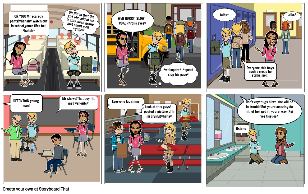 STORYBOARD ABOUT BULLYING!I ICT