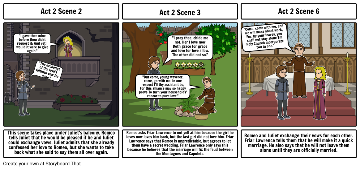 Romeo & Juliet ACT 2 rising actions