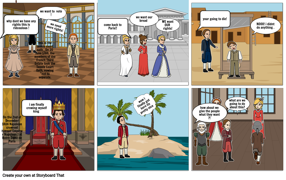 french story board