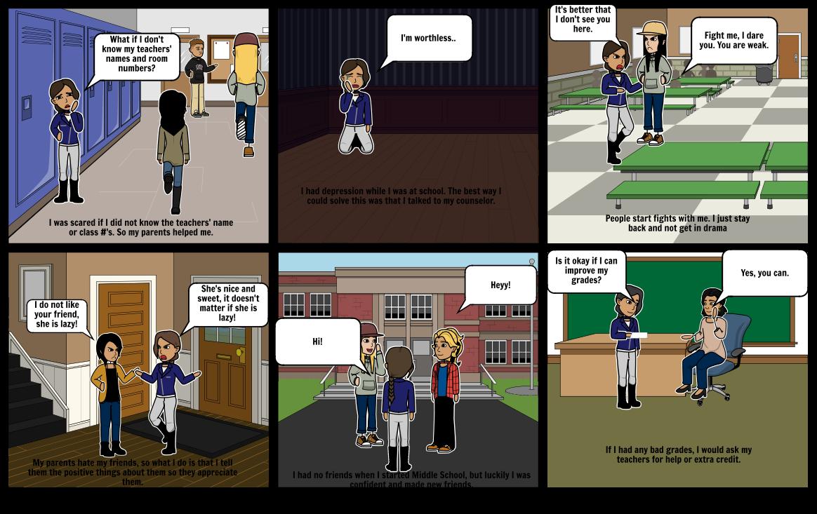 6 Fears of Middle School