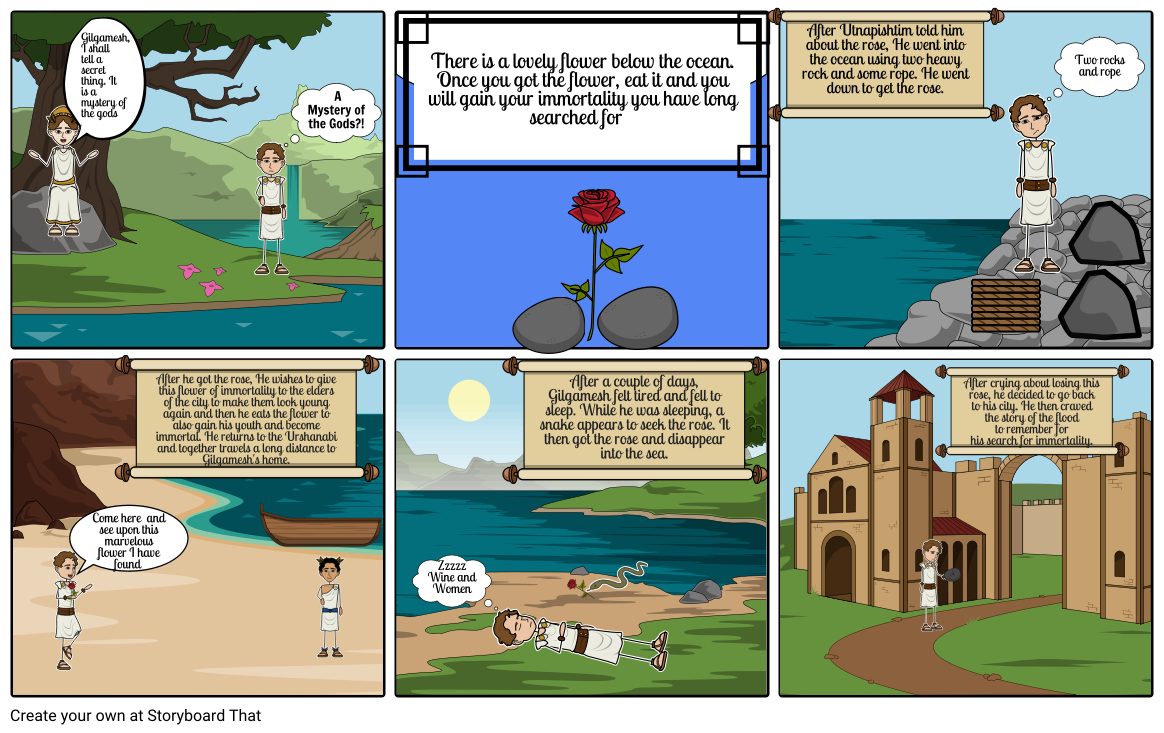 The epic tale of Gilgmesh