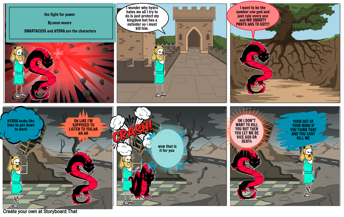the fight for power comic