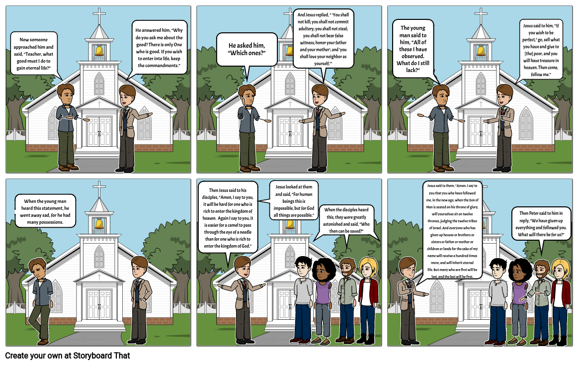 Parable Comic The Rich Young Man