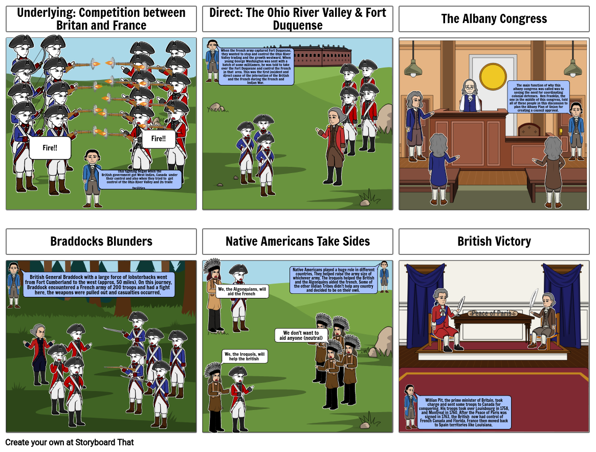 French and Indian War Comic strip.