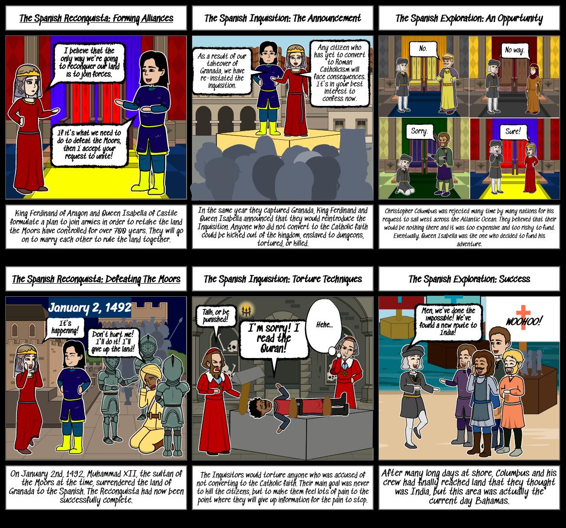 Spanish History Storyboard