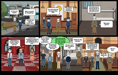 Civics Judicial Storyboard