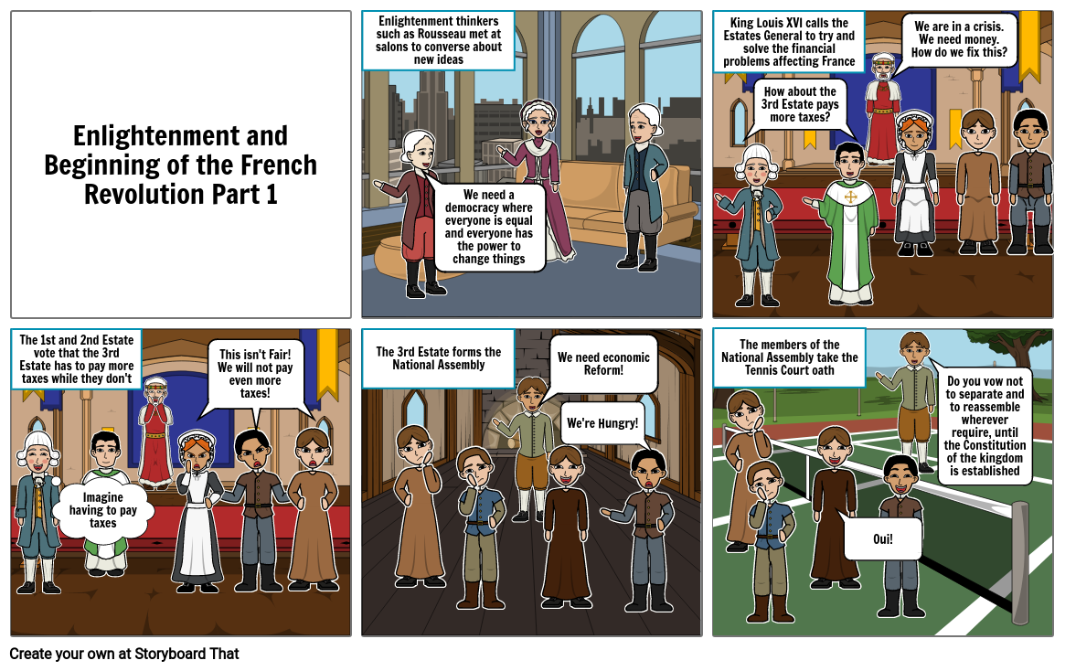 Comic History of the Enlightenment and French Revolution