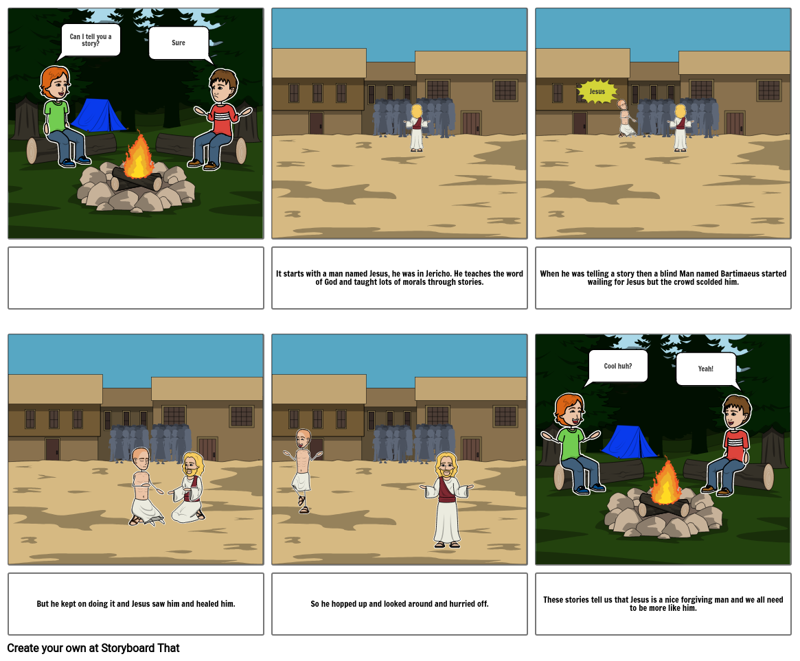 Religion Comic Blind Batimaeus