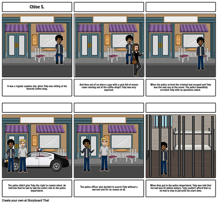Storyboard for the 10 amendments