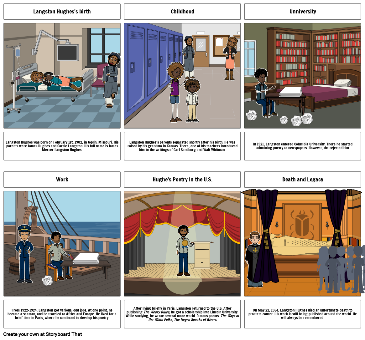 The life and Legacy of Langston Hughes