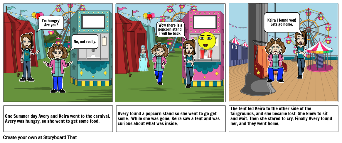 Point of View Comic Strip Project - 3rd Person