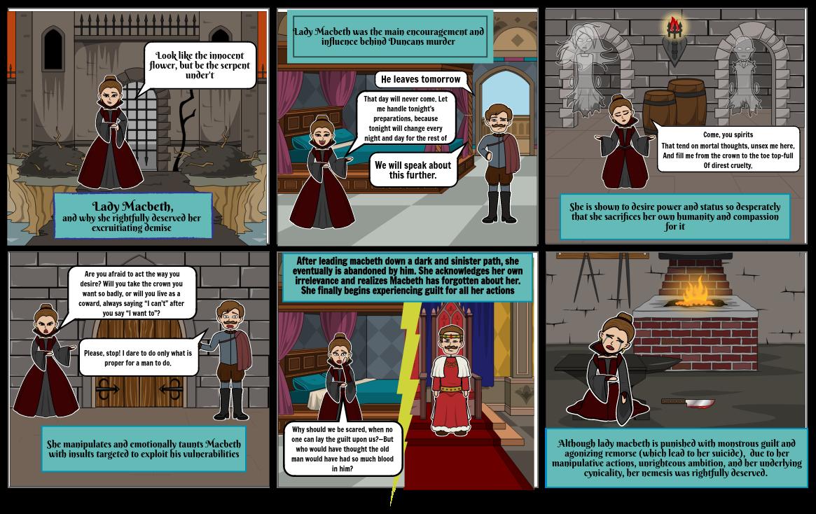 Macbeth; Lady Macbeth and her cynicality