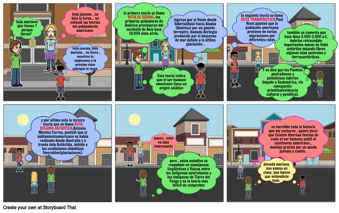historieta sobre el poblamiento americano