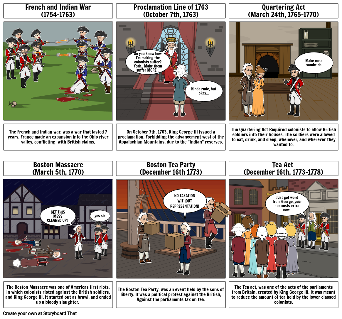 US History Comic Strip - Caitlin Craner - 4th hour