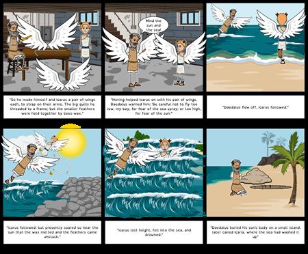Greek Gods and Heroes : Daedalus Storyboard