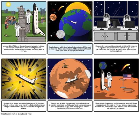 space storyboard