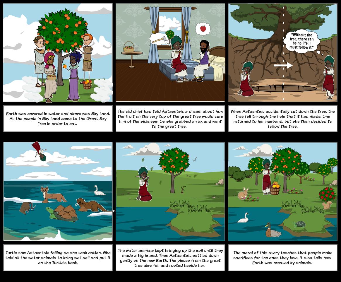 """The sky tree"" Comic Panel"