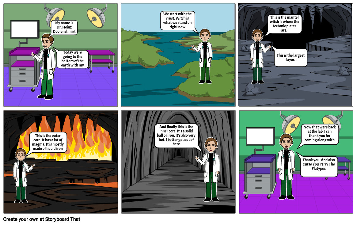 Journey to The Center of the Earth With Dr. Doofenshmitrz- Will Shaw