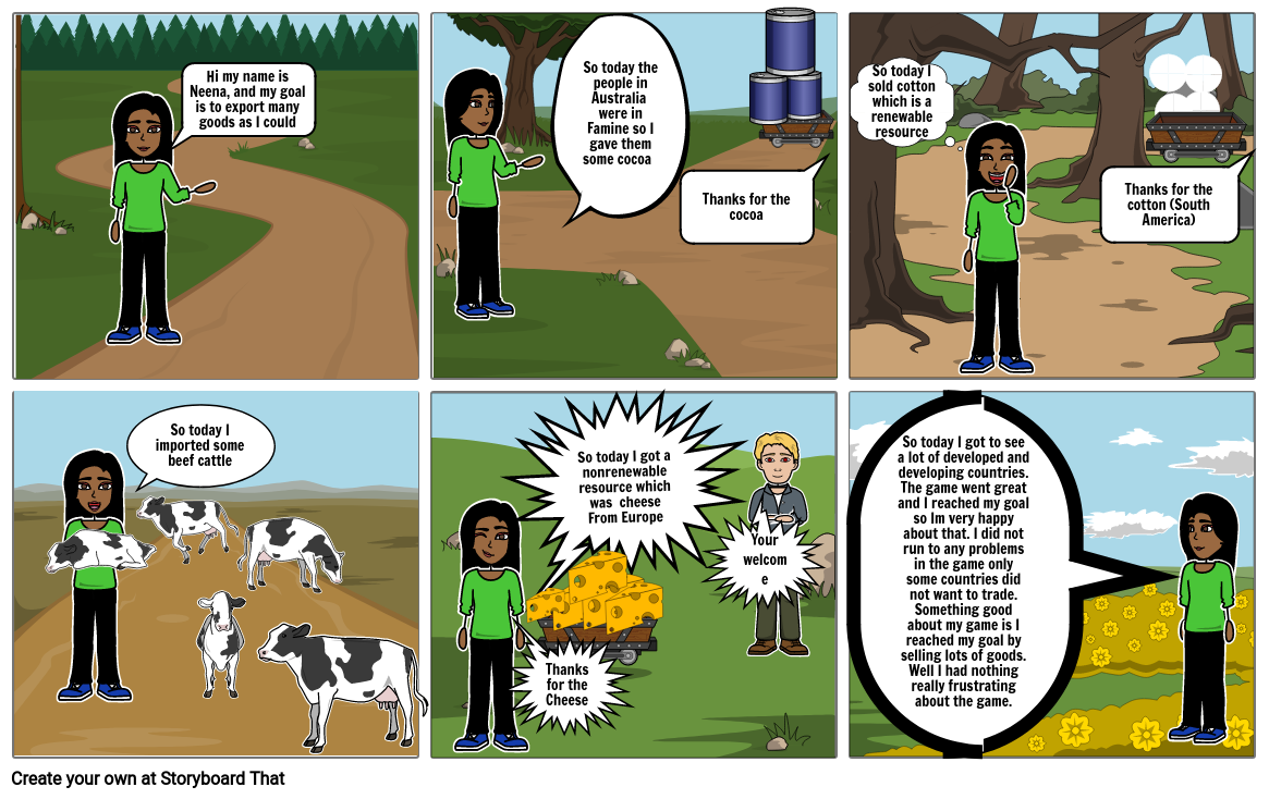 7th grade trader, Storyboard project