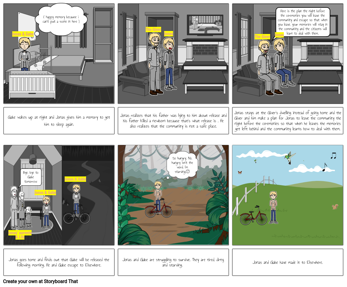 the giver comic strip continuation