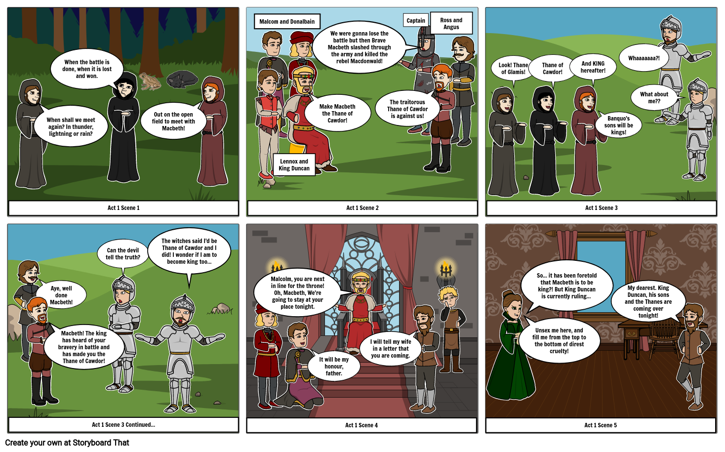 Macbeth Comic Strip