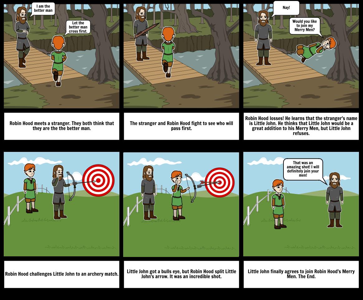 robin hood story storyboardcdineen35