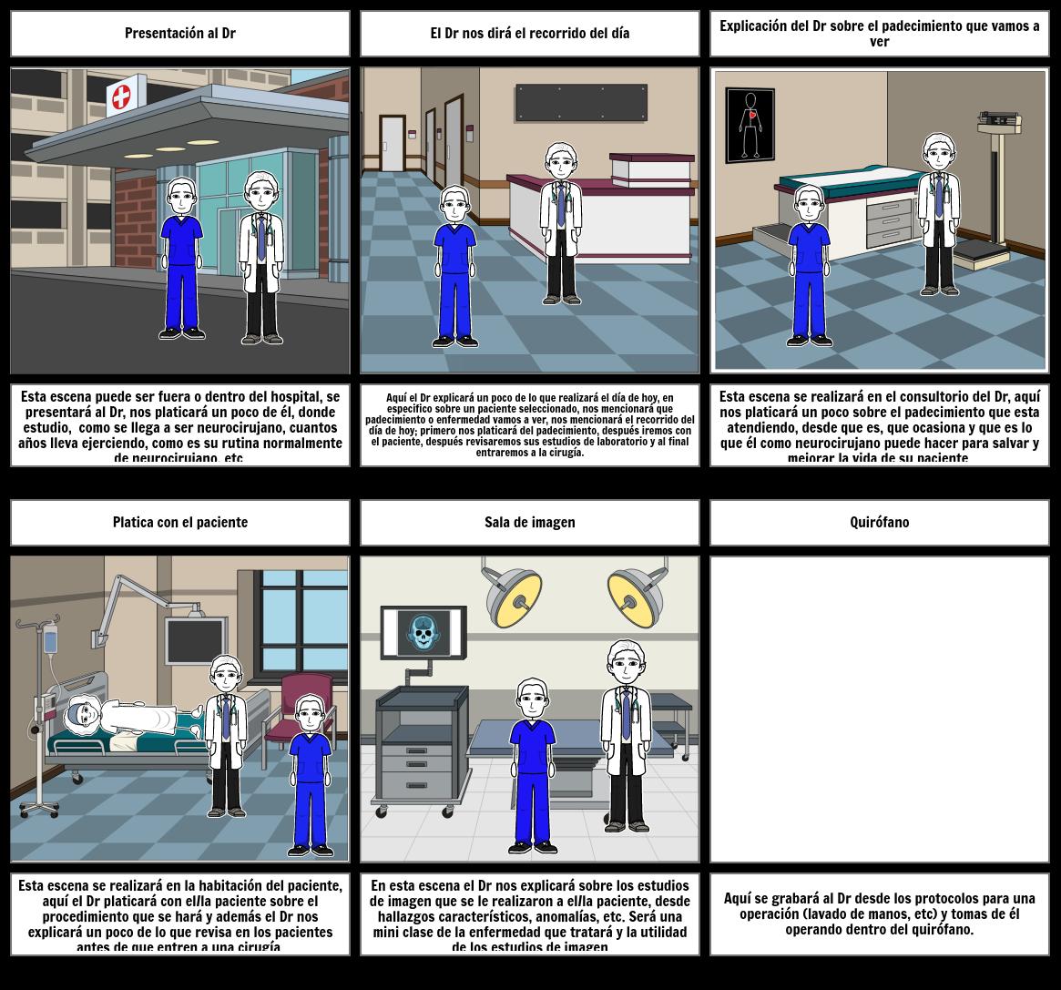 Storyboard neurocirugía