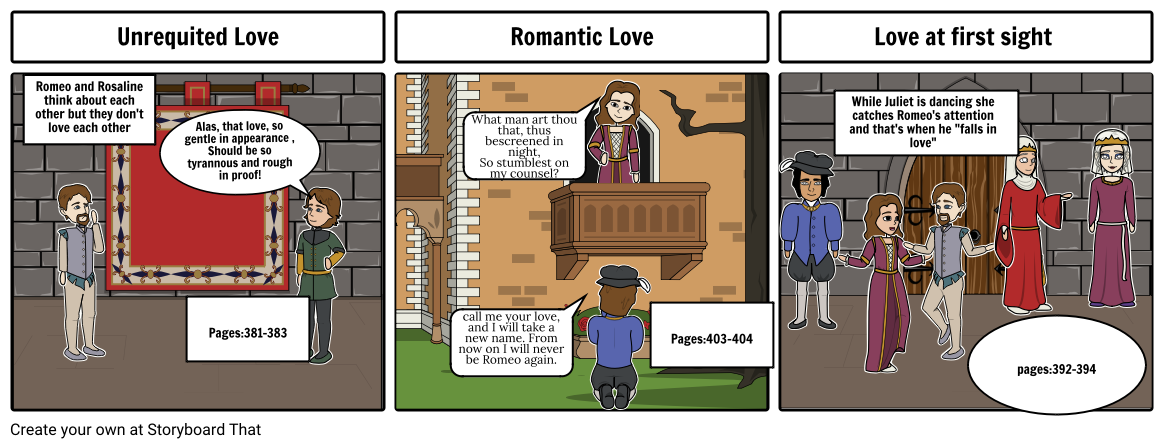 Romeo and Juliet Types of Love