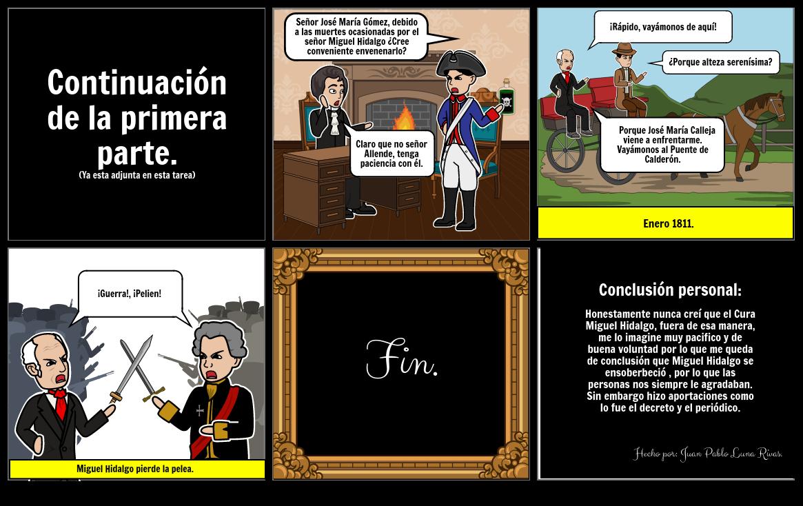 Comic (Parte 2 Miguel Hidalgo en Guadalajara.
