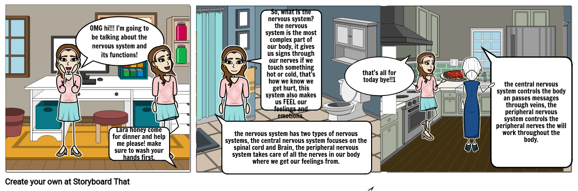 the nervous system, the explanation