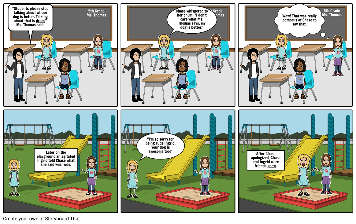 Chase  - classroom cartoon