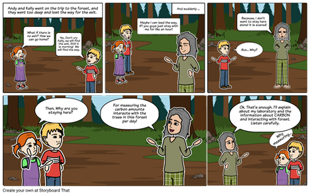 Scientifically Superb Short Story - Forest Carbon Cycle