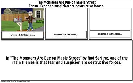 Monsters Theme Storyboard