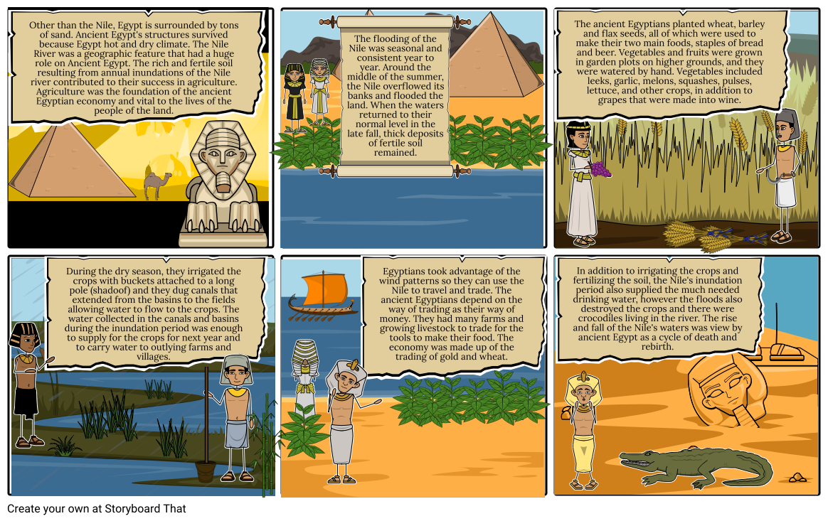 Ancient Egypt agriculture and the Nile