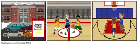 Snowy B-ball Game by Noelle